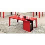 Hokku Designs Zedd Coffee Table with Magazine Rack; Red