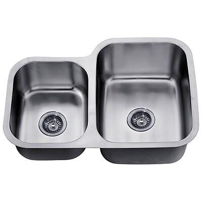 Dawn USA 30'' x 20.88'' Under Mount Double Bowl Kitchen Sink WYF078277793637