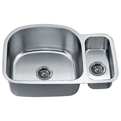 Dawn USA 30'' x 20'' Under Mount Double Bowl Kitchen Sink WYF078277793642
