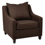 Ave Six Regent Milford Fabric Club Chair; Java
