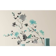Room Mates Deco Blossom Watercolor Bird Branch Wall Decal
