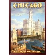 Art Kerne Erickson 'Chicago' 39 x 27 (1237534)