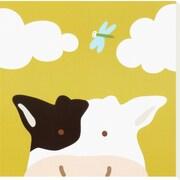 Art Yuko Lau 'Peek-a-Boo III, Cow' 12 x 12 (1729839)