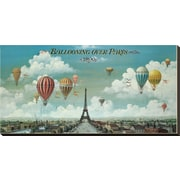 Art Isiah and Benjamin Lane 'Ballooning Over Paris' 16 x 32 (2882680)