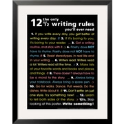 Art 'The Only 12 1/2 Writing Rules You'll Ever Need' 31 x 25 (4263396)