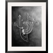 Art Howard Sokol 'Football play on chalkboard' 31 x 25 (4623914)