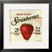 Art David Carter Brown 'Sweet and Juicy Strawberries' 19 x 19 (4850047)