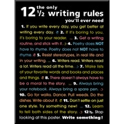 Art 'The Only 12 1/2 Writing Rules You'll Ever Need' 24 x 18 (8092448)