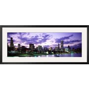 Art Panoramic Images 'Sunset, Sky, Skyline, Twilight, Downtown' 18 x 42 (8755520)