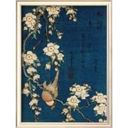 Art Katsushika Hokusai 'Goldfinch and Cherry Tree, c.1834' 17 x 13 (8867427)