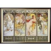Art Alphonse Mucha 'Les Saisons' 29 x 41 (8868399)