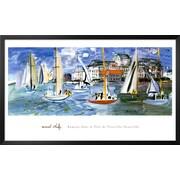 Art Raoul Dufy 'Regates Dans le Port de Trouville' 26 x 42 (9059299)
