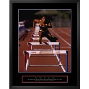 Art 'Goals: Runner Jumping Hurdles' 30 x 24 (9059358)