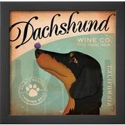 Art Stephen Fowler 'Daschund Wine' 14 x 14 (9059876)