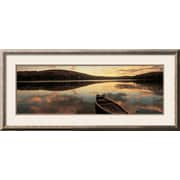 Art Panoramic Images 'Water and Boat, Maine, New Hampshire Border, USA' 20 x 44 (9358059)