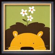 Art Yuko Lau 'Peek-a-Boo IX, Lion' 14 x 14 (9369673)