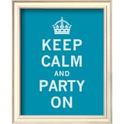 Art 'Keep Calm and Party On' 11 x 9 (9370377)