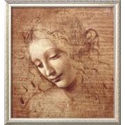 Art.com  Leonardo da Vinci 'Female Head (La Scapigliata), c.1508'  26 x 24 (9370614)