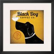 Art Ryan Fowler 'Black Dog Coffee Co.' 19 x 19 (9373010)