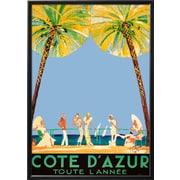 Art Jean-Gabriel Domergue 'Cote d'Azur' 40 x 29 (9531492)