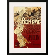 Art Adolfo Hohenstein 'La Boheme, Musica di Puccini' 34 x 25 (10201351)