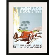 Art Geo Ham '6th Grand Prix Automobile, Monaco, 1934' 34 x 26 (10202221)