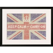 Art Ben James 'Keep Calm and Carry On (Union Jack)' 24 x 32 (10212400)