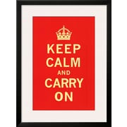 Art 'Keep Calm and Carry On' 32 x 24 (10212417)
