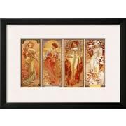 Art Alphonse Mucha 'Les Saisons, 1900' 18 x 25 (10215985)