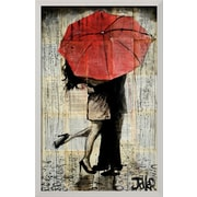 Art Loui Jover 'The Red Umbrella' 13 x 8 (10726093)
