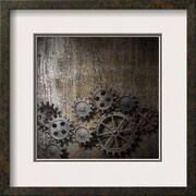 Art Andrey_Kuzmin 'Metal Background With Rusty Gears And Cogs' 16 x 16 (12520669)