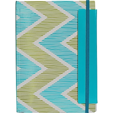 Mead® Dot & Zag Bungee Notebook, 7-1/4