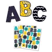 Carson-Dellosa Black, White & Bold Large and Small Letters Set (144936)