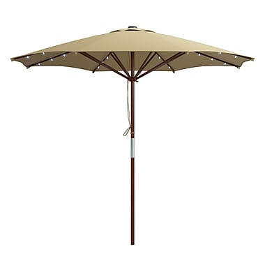 CorLiving PZT-724-U Patio Umbrellas with Solar Power LED Lights