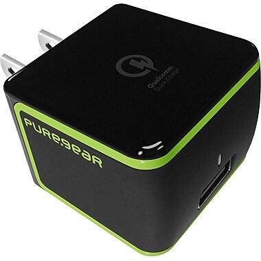 Puregear – Chargeur USB 2.0 rapide de voyage Qualcomm Quick 60587PG, noir