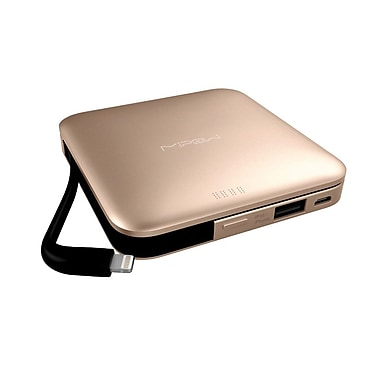 MiPow SPL09GD Power Cube 9000mAh with Lightning Arm, Gold