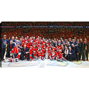 2015 Stanley Cup Chicago Blackhawks Team Celebration Canvas, 14