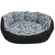 "Danazoo Faux Suded Bottom Pet Cuddler, 23"" x 18"", Black"