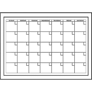 Wall Pops Dry Erase Monthly Calendar, 24