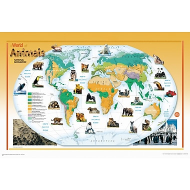 Wall Pops Poster, Animals Of The World