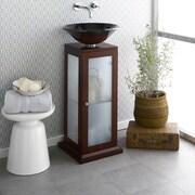 Ronbow Solis 15'' Wood Vanity Pedestal w/Drain Hole in Dark Cherry