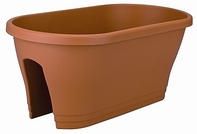 Exaco Resin Rail Planter; Terra WYF078276333134