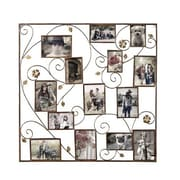 AdecoTrading 14 Opening Decorative Bronze-Color Iron Photo Collage Wall Hanging Picture Frame