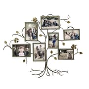 AdecoTrading 7 Opening Decorative Bronze-Color Iron Family Tree Collage Wall Hanging Picture Frame