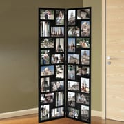 AdecoTrading 32 Opening Wood Hinged Folding Screen-Style Photo Collage Picture Frame