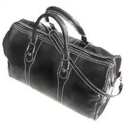 Floto Imports Milano 20'' Leather Travel Duffel; Black