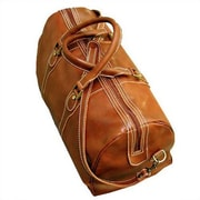 Floto Imports Milano 20'' Leather Travel Duffel; Olive Brown