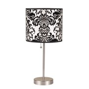 ORE Furniture Floral 19.5'' H Table Lamp with Drum Shade