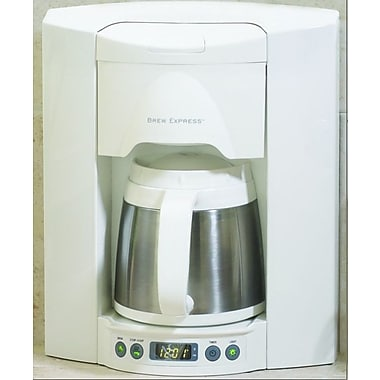 Brew Express 4 Cup Built-In-The-Wall Self-Filling Coffee and Hot Beverage System; White