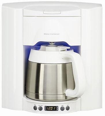 Brew Express 10 Cup Built-In Self-Filling Coffee and Hot Beverage System; White WYF078275627622